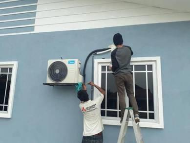 Service, pasang dan wiring aircond