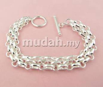 ABBS9-S012 Vogue Silver 925 Bracelet Mens Fashion