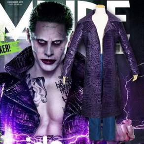 Joker Costume Cosplay Suicide Squad Leather Jacket