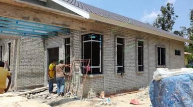 Pemasangan Aluminium Tingkap Rumah Kos Complete