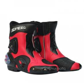 Pro-biker speed riding boots (red) size : 40-45