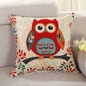 Red Owl pillow cushion bantal sarung sofa office