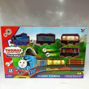 Permainan kanak2 set keretapi Thomas cartoon