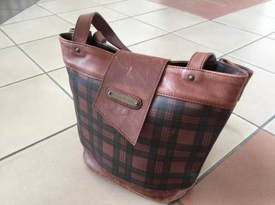 Polo ralph lauren leather shoulder bucket bag RRL