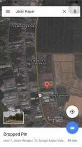 Kapar, Meru , Klang industrial Land Facing Main Road