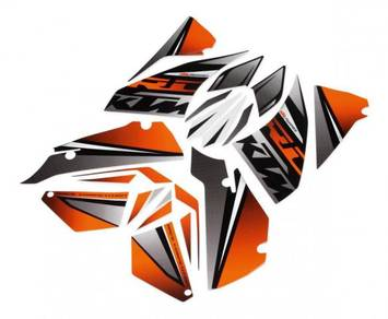 KTM RC 200/250/390 powerparts decal