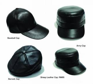 Leather Army Baseball Barrack Police Cap