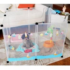 Transparent pet fence / play pen 07