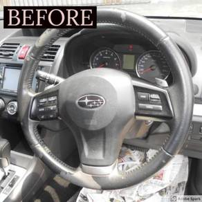 Subaru xv steering replace synthetic leather