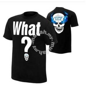 WWE WWF T Shirt (Stone Cold What?) Baju