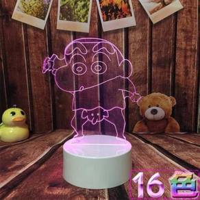 Crayon shin chan 16 colours LED light present gift