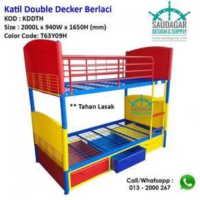 Katil Dua Tingkat Berlaci | Bunk Bed With Drawers