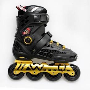 Kids & adults rollerblade black gold good quality