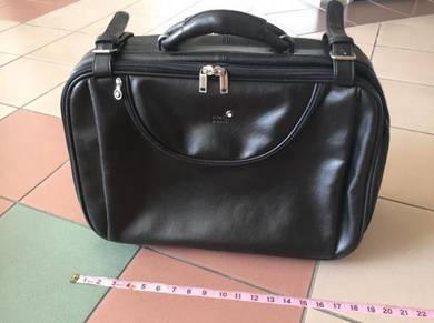 Montblanc leather trolley cabin bag Rayban clark
