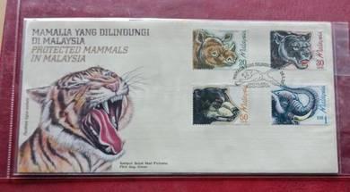 FDC Mamalia Yang Dilindungi Di Malaysia 1999