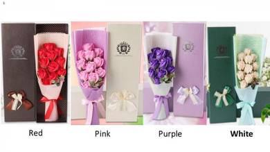 11Pcs Rose Soap Flower for Valentine's Day