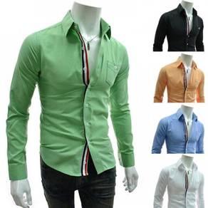 J0535 Stylish Green Formal Pocket Office Men Shirt