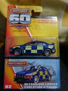 Matchbox Mitsubishi Lancer Evolution X Police