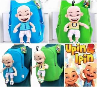 Cute Soft Plushtoy UPIN IPIN Bag Backpack