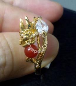 ABRGF-D002 9K Dragon Gold Filled CZ Crystal Ring 9