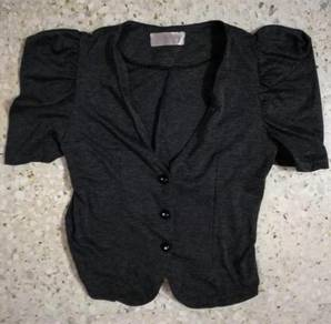 Grey cardigan jacket formal ol office top