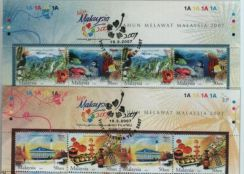 Mint Stamp 2 sets with Header Visit Malaysia 2007