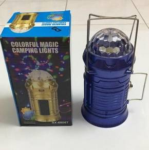 Solar Rechargeable LED Camping Light / Power Bank