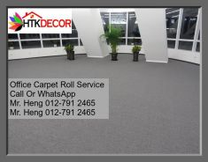Classic Plain Design Carpet Roll with Install J15