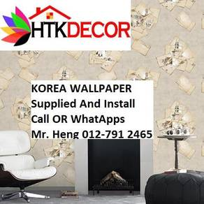 Pretty Wallcovering with Installation  292SW