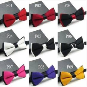 Double Layer Men Bow Tie With Strap