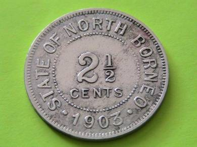 2 1/2 Cents State Of North Borneo 1903-H [ A4403]