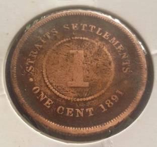 Straits Settlements 1 Cent 1891
