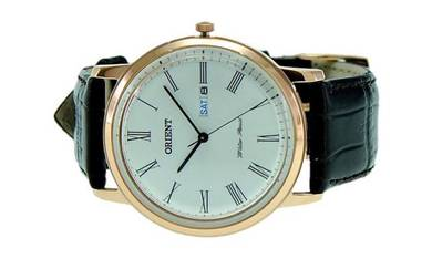 ORIENT Men Classic Day Date Leather Watch FUG1R006