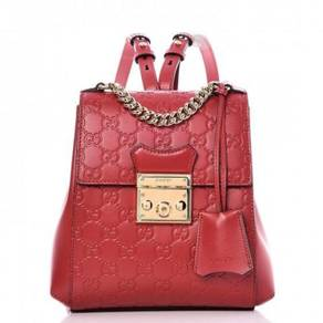 GUCCI Guccissima Padlock Signature Backpack Hibis