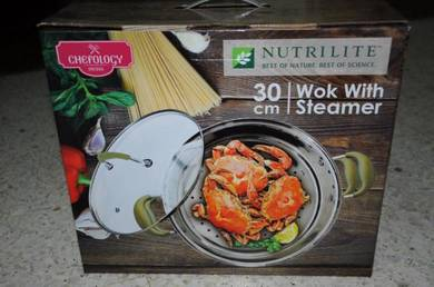 Swiss Chefology 30cm Wok with Steamer