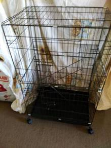 Cat Cage 3 Level Wrought Iron