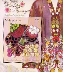 Miniature Sheet Baba Nyonya Heritage Malaysia 2013