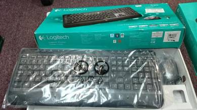 Keyboard and Laser Mouse Logitech Wireless Combo M