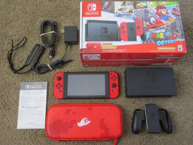 Nintendo Switch Super Mario Odyssey Red Limited Ed