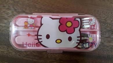 Hello Kitty set - spoon,fork, chopsticks