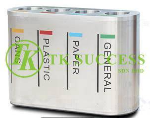Stainless Steel Recycle Bin 4 in 1 RB315/SS