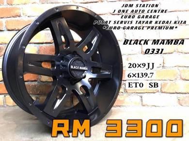 Black mamba o331 20inc ford ranger triton dmax