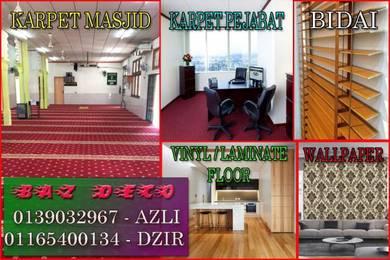Flooring Kedah Vinyl floor laminate, carpet baz11