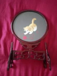Chinese Hand Silk Screen Cat Display