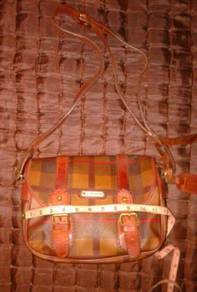 Vintage GIAMAX italy monogram leather square bags