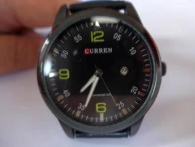 Curren Quartz Large Black Dial Watch