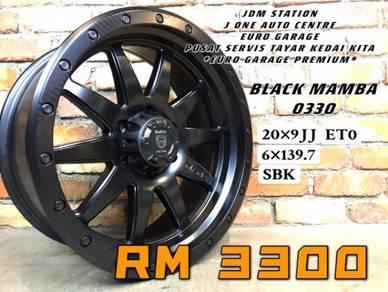 BLACK MAMBA O330 20inc ford ranger dmax TRITON