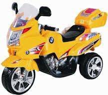 Childrend eletrcik bmw bike yellow