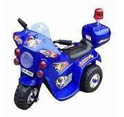 Childrend mini police blue bike