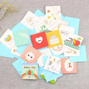 Small Gift Card 12pcs per/set with Envelope paper